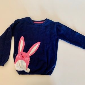 PRIMARK navy blue sweater with pink bunny